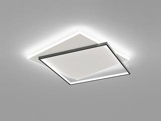 【包邮 偏远地区除外】 现代 铁艺+亚克力 1070*1010 无极灯光 吸顶灯(含光源 LED123W)