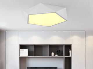 【包邮 偏远地区除外】 现代简约 铁艺+亚克力 钻石 白色750 无极灯光 吸顶灯(含光源 LED80W)
