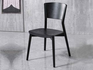 意式极简 白蜡木 雅黑色餐椅(单把价格 需双数购买 单数不发货)