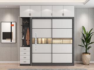 轻奢风格 环保实用 多空间 四抽边柜