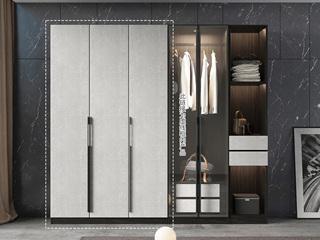 轻奢风格 高级黑白色 环保实用 长1.2米 3开门衣柜