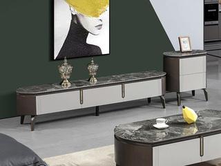 现代简约 蒙娜丽莎岩板 电视柜(不含边柜)