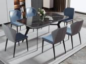 卡罗亚 现代简约 1.4米 防刮耐磨 亮光岩板 餐桌