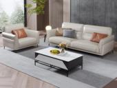诺美帝斯 现代简约 高弹舒适 头层牛皮+实木框架 1+3人位 组合沙发(不含抱枕)
