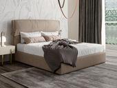 卡罗亚 现代简约  优质布艺  实木框架 卡其色 卧室1.8米床双人床