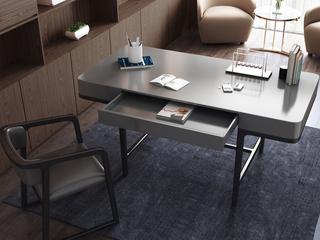 极简风格 白蜡木实木 抗压承重 灰色 长1.2米功能书桌
