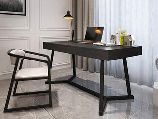 极简风格 白蜡木 实木抽屉 哑光长1.6米书桌