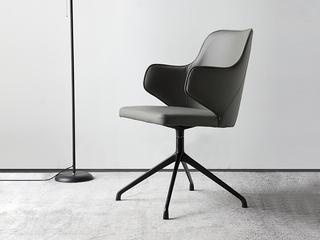 极简风格 优质皮艺 105度黄金靠背角度 书椅