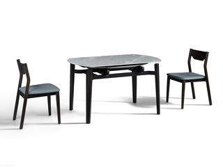 极简风格 优质白蜡木工艺 防刮耐磨亮光岩板 稳固承重 多功能伸缩圆餐台