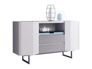 极简风格 优质灰橡木工艺 防刮耐磨岩板台面 质感细腻  质感细腻 餐边柜