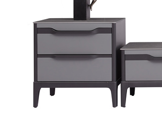 极简风格 优质实木 防刮耐磨岩板台面 质感细腻 稳固承重 边柜